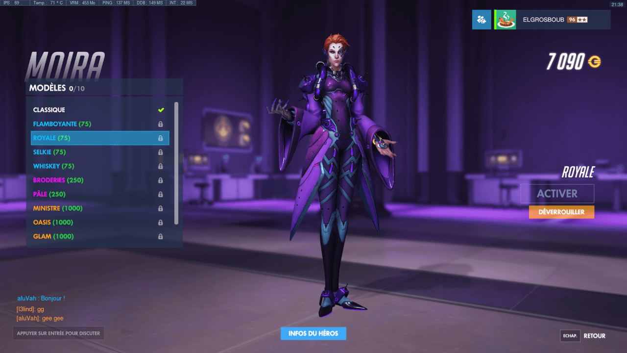 Overwatch Skin Rare Moira : Royale