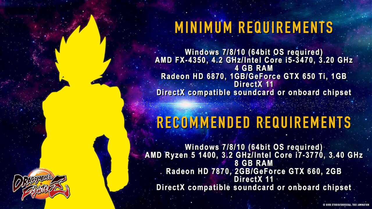 Dragon Ball FighterZ : la configuration PC requise est dévoilée !