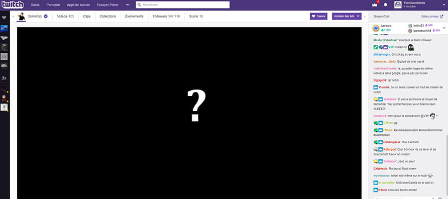 Twitch, Black Screen : une panne mondiale impacte le site de streaming