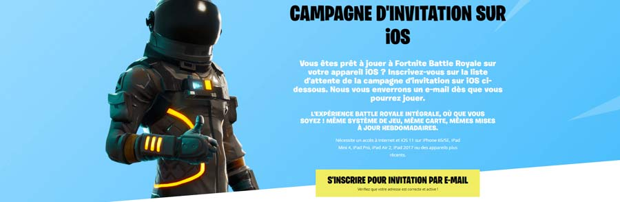 Inscription mobile fortnite sur mobile
