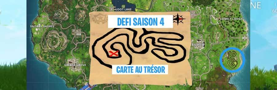 Guide Fortnite : Saison 4 – Semaine 3 – Carte au trésor Salty Springs