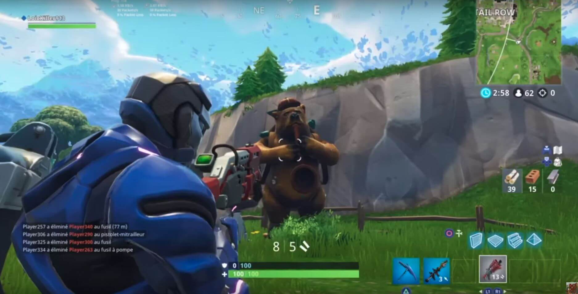 l ours - fortnite etoile cachace semaine 8