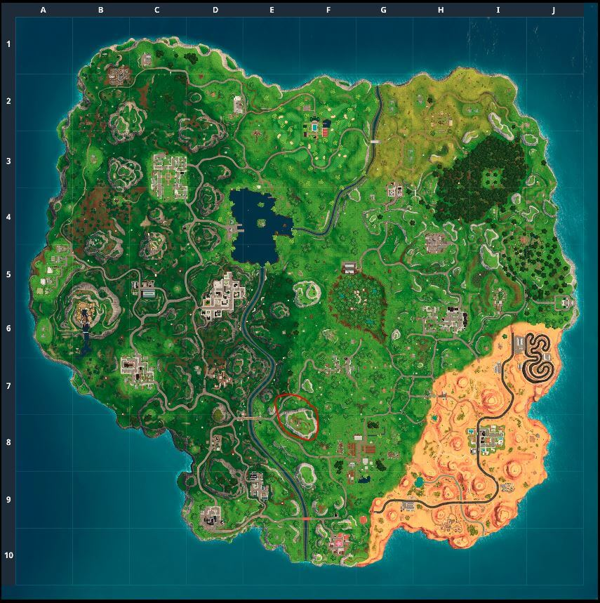 Fortnite - Saison 5 - Semaine 3 - Carte au trésor de Flush Factory