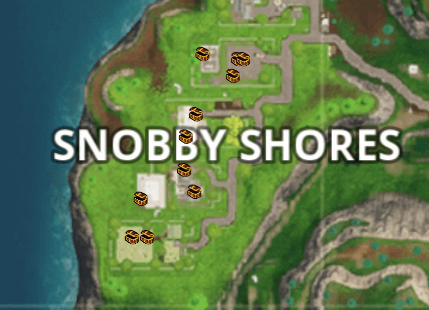 fortnite saison 5 semaine 1 trouver les coffres snobby shores. Black Bedroom Furniture Sets. Home Design Ideas
