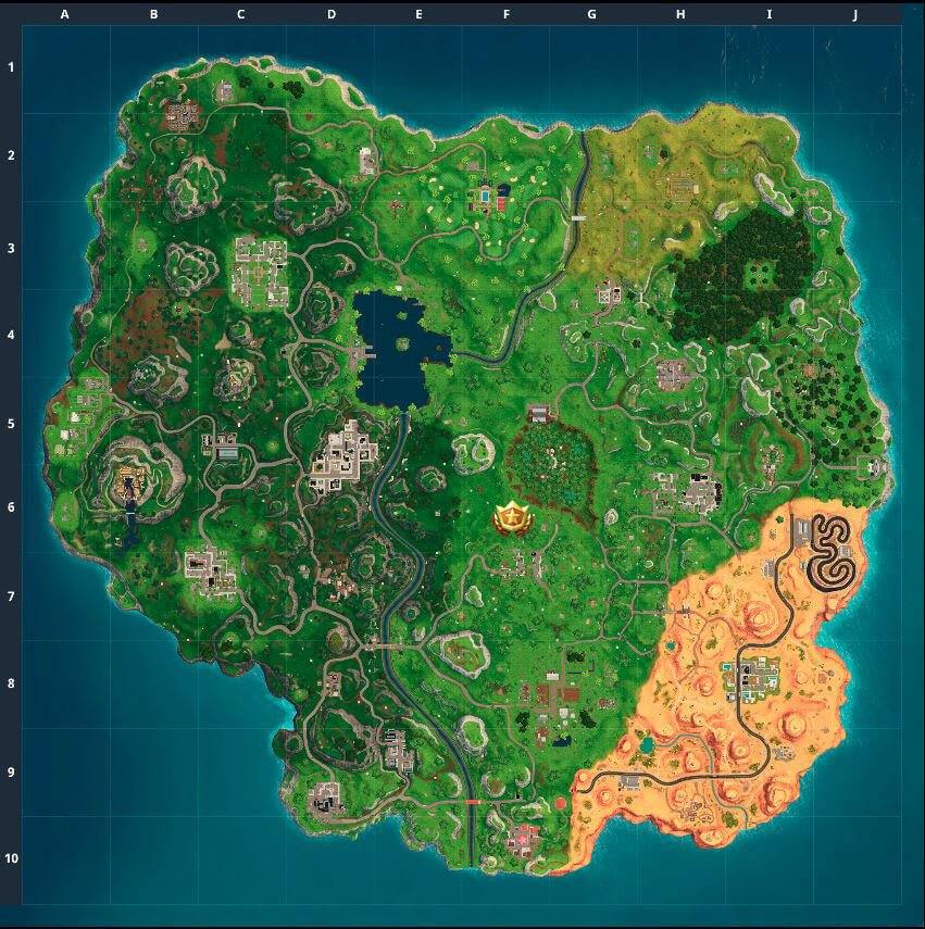 Fortnite - Saison 5 - Semaine 9 - Carte au trésor Shifty Shafts