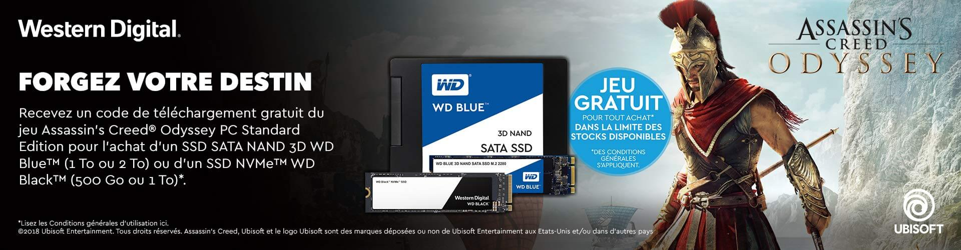 SSD Western Digital : Assassin's Creed Odyssey offert pour tout achat