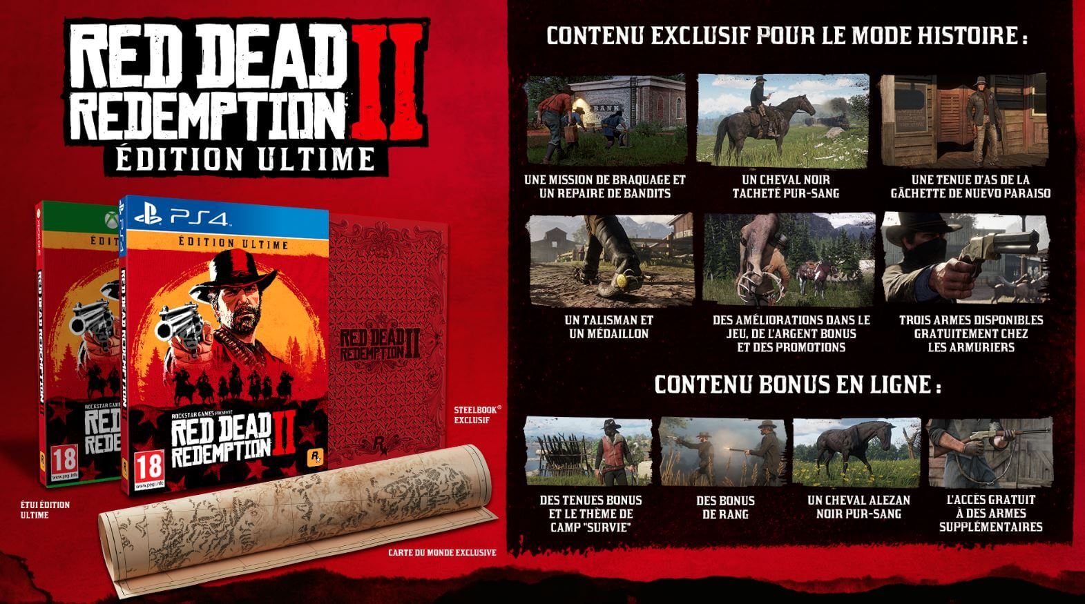 Black Friday 2018 : Red Dead Redemption 2, édition Ultime PS4 à 84 €