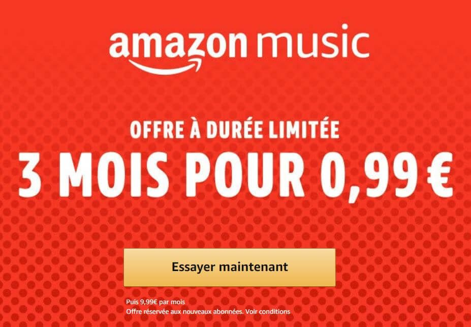 Black Friday 2018 : Amazon Music à 0,99 € pour 3 mois d'abonnement