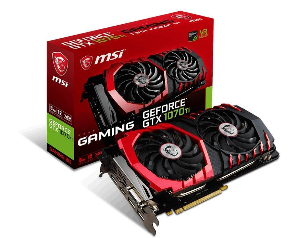 Black Friday 2018 : Carte graphique MSI GeForce GTX 1070 Ti 8G à 469 €