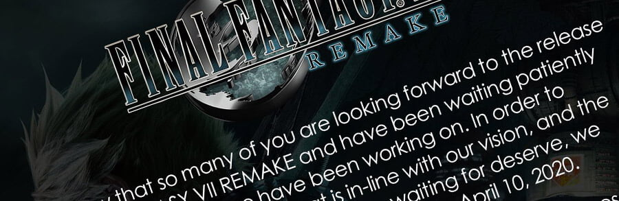 Final Fantasy 7 Remake - L'exclusivité PS4 reportée au 10 avril 2021 ?