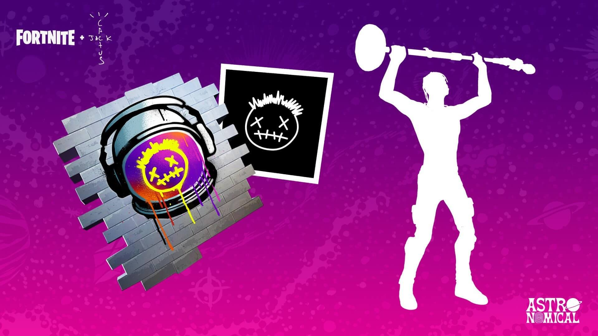 Fortnite - Event Travis Scott - Skin, Planeur, emote et sprays