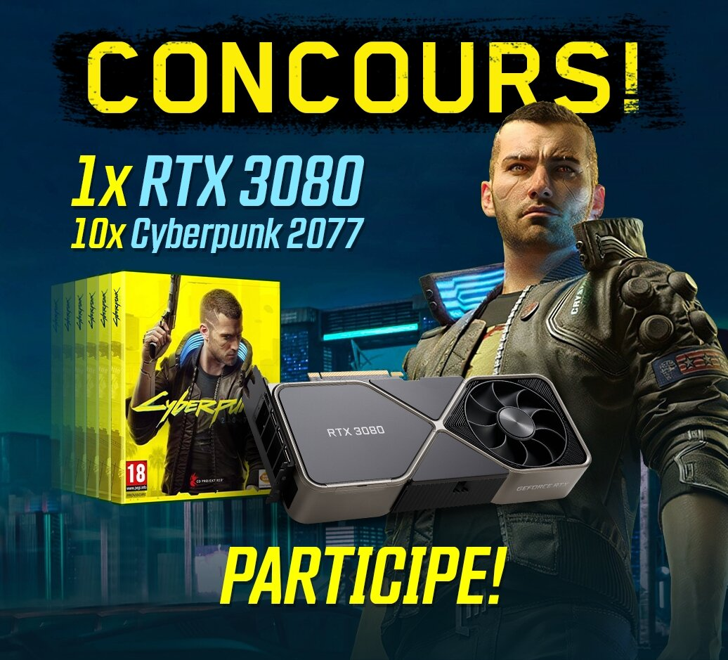 Concours Instant-Gaming : Gagne ta RTX 3080 et 10 jeux Cyberpunk !